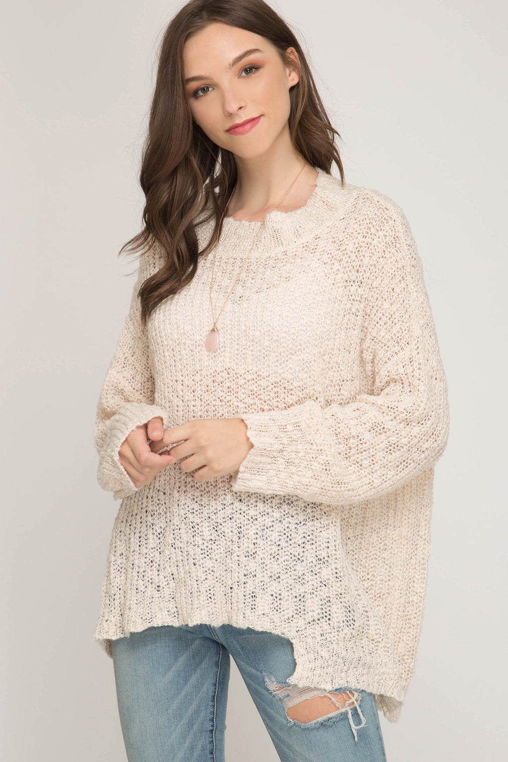 Metal Yarn Sweater