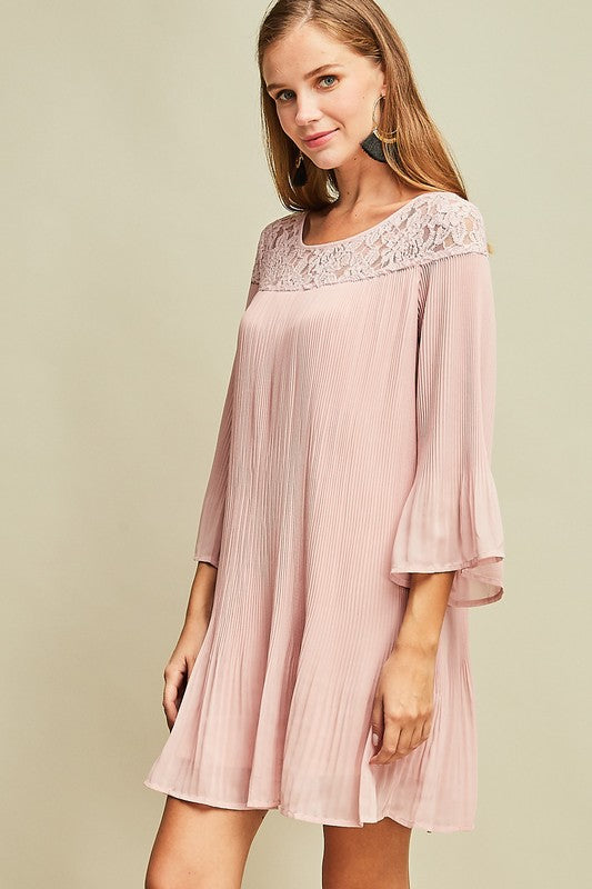 Rose Pleated Dress