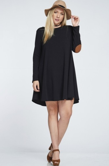 Curvy Knit Patch Dress