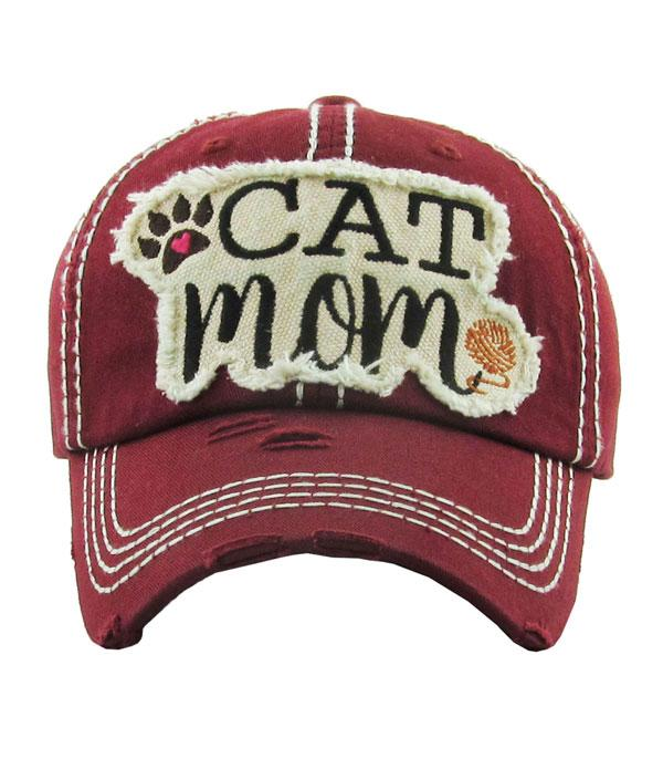 Cat Mom Ball Cap
