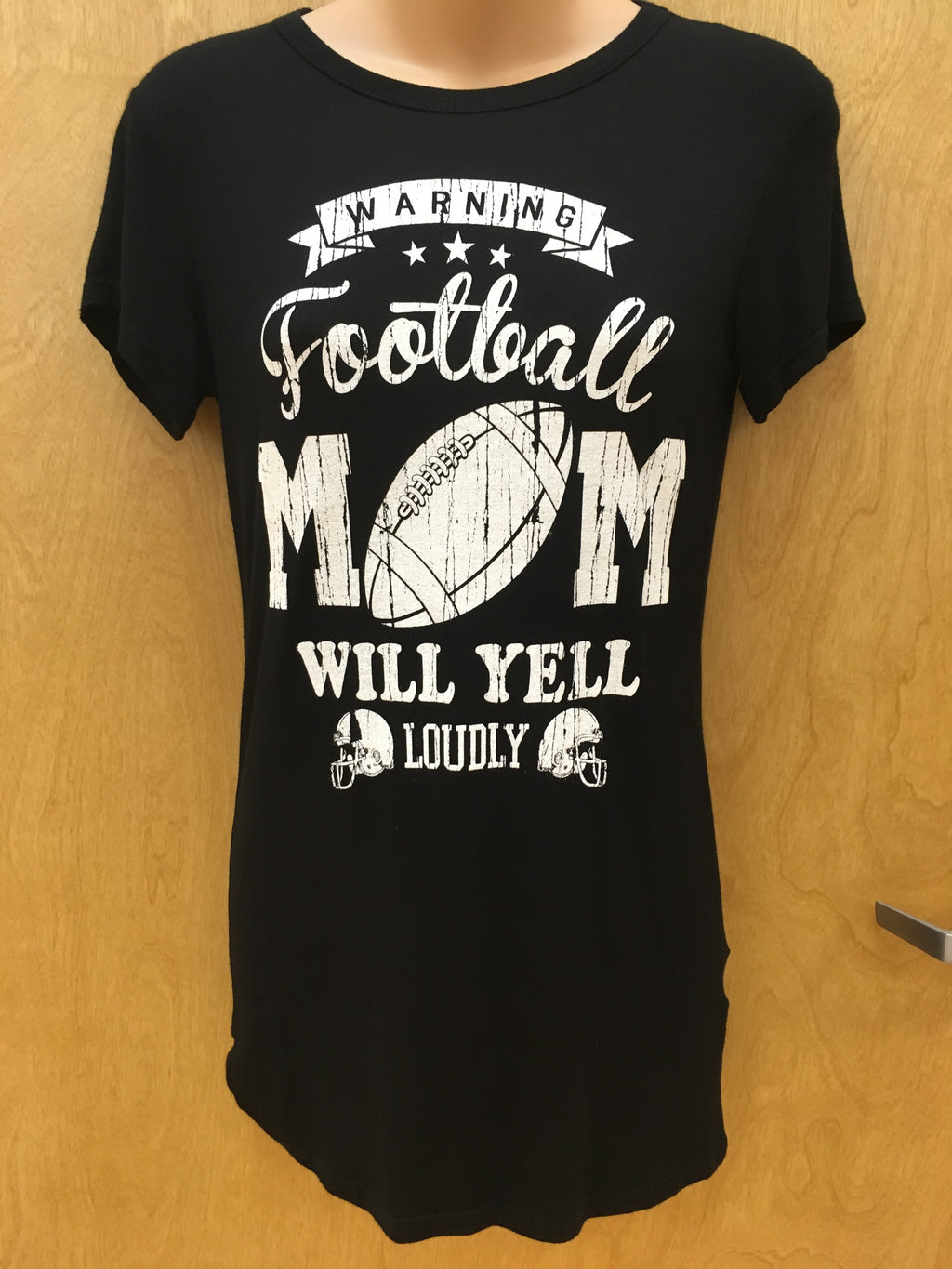 """Warning: Football Mom Will Yell Loudly"" Top"