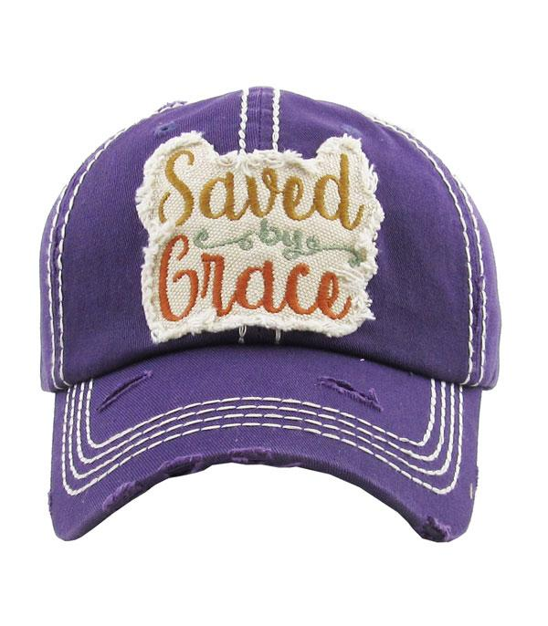 Saved By Grace Ball Cap