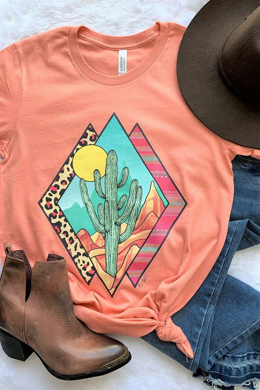 Diamond Sunset Cacti Tee