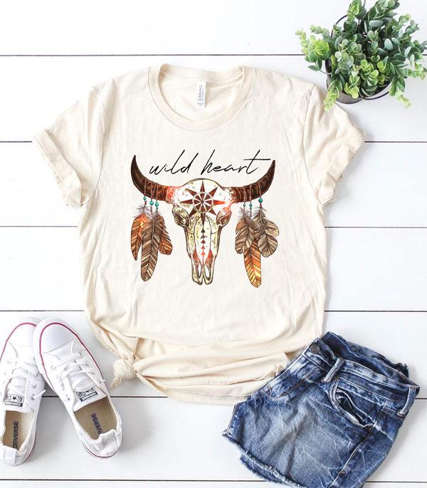 Wild Heart Steer Head Tee