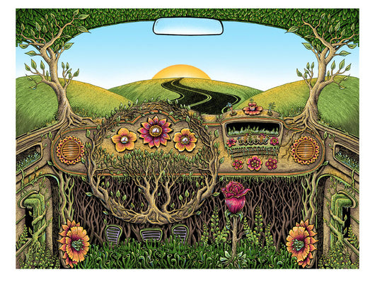 Flower Car Mini Print