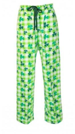 Overstock Boxercraft flannel shamrock pants embroidered with an