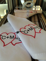 Mr and Mrs cake table napkins