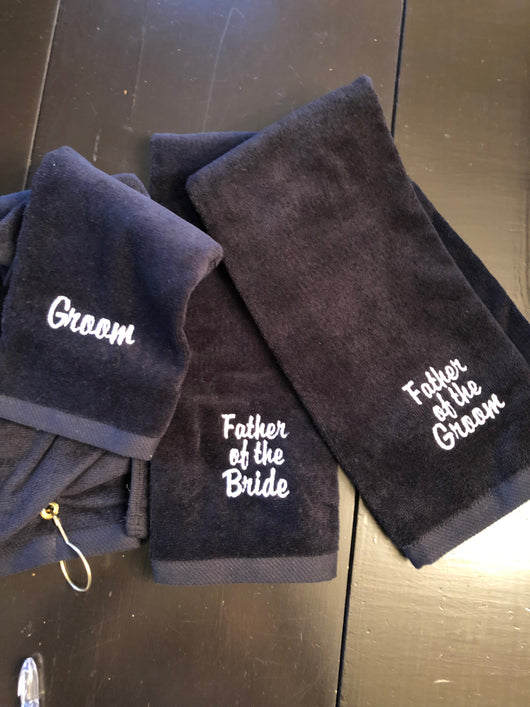 wedding party Golf towels