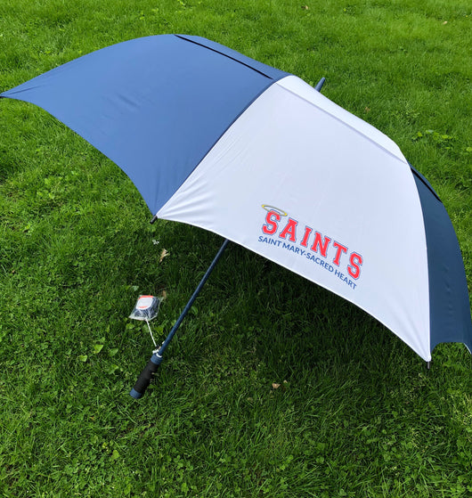 SAINTS 64 Inch Arc Vented Auto Open Golf Umbrella
