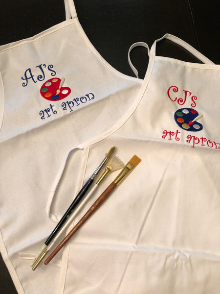 Personalized Embroidered Youth Apron