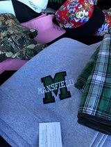 Mansfield Embroidered logo  9 oz. Fleece Stadium Blanket