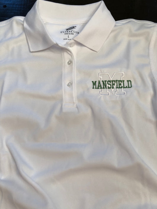 Mansfield logo ladies performance polo
