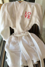 Plush Spa terry robes with personalization