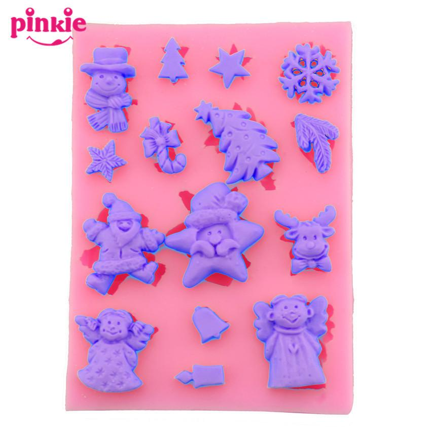 christmas silicone mold decoration tool gifthap