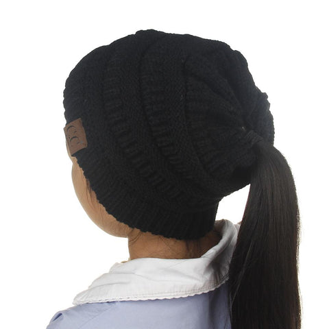 Messy Bun Beanie for Kids
