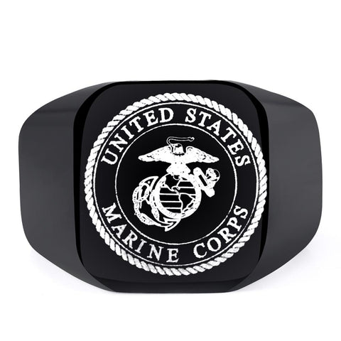 Stainless Steel Marine Corps Ring