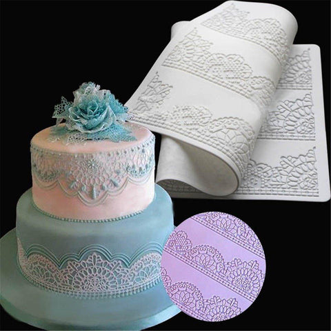 Flower Lace Birthday Cake Mold
