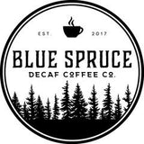 Blue Spruce Decaf Coffee Co. Logo