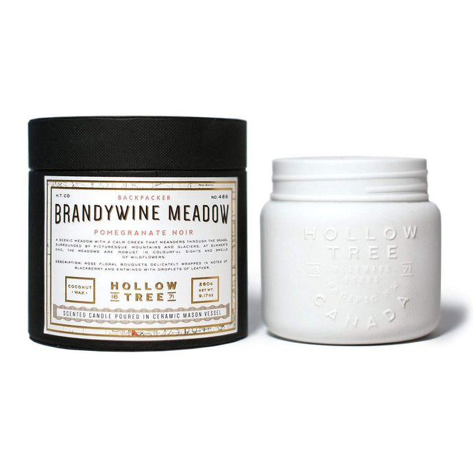 """Brandywine Meadow"" coconut wax candle from HOLLOW TREE 1871, available at LABRADOR SUPPLY CO."