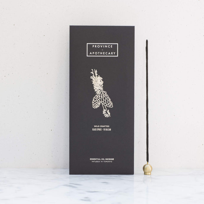 Province Apothecary | Black Spruce + Fir Balsam Essential Oil Incense