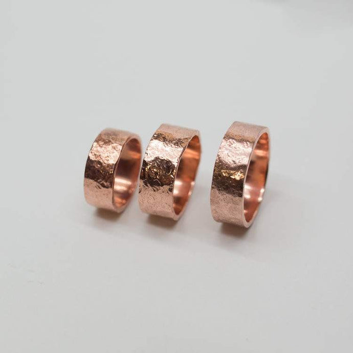 Smithstine | Handmade, Heavy, Hammered Copper Band