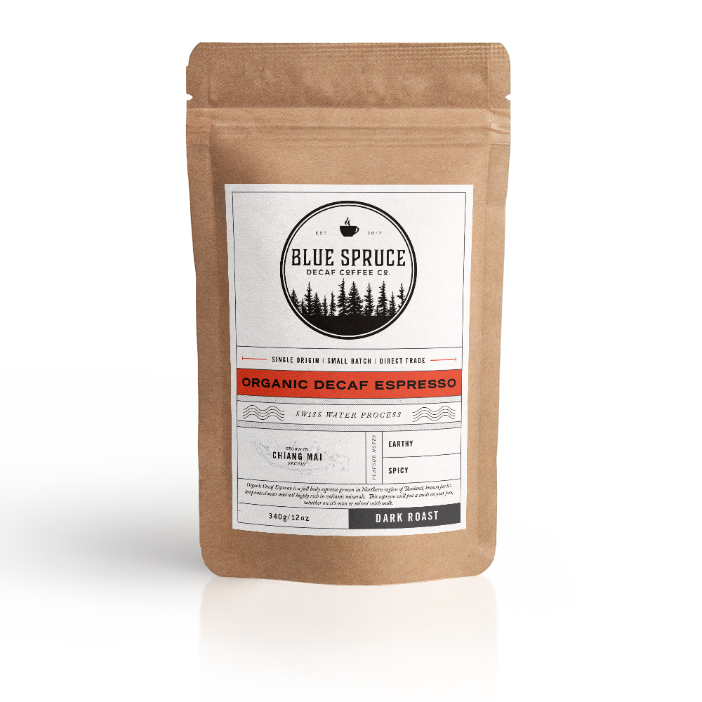 Organic Decaf Espresso | Blue Spruce Decaf Coffee Co. - Labrador Supply Co.