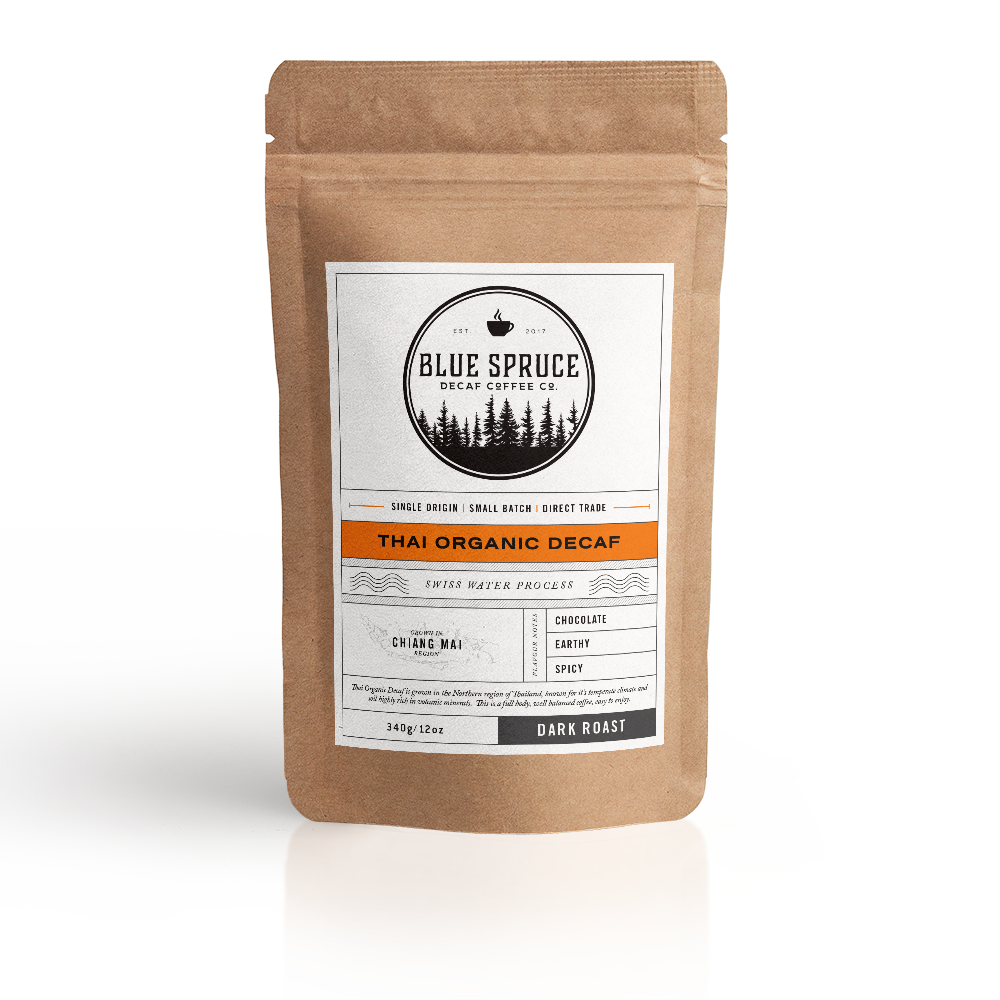 Thai Organic Decaf Coffee | Blue Spruce Decaf Coffee Co. - Labrador Supply Co.