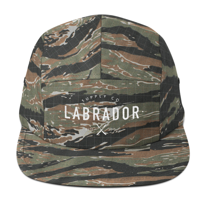 Classic camper hat in CAMO with white Labrador Supply Co. logo stitched on front.