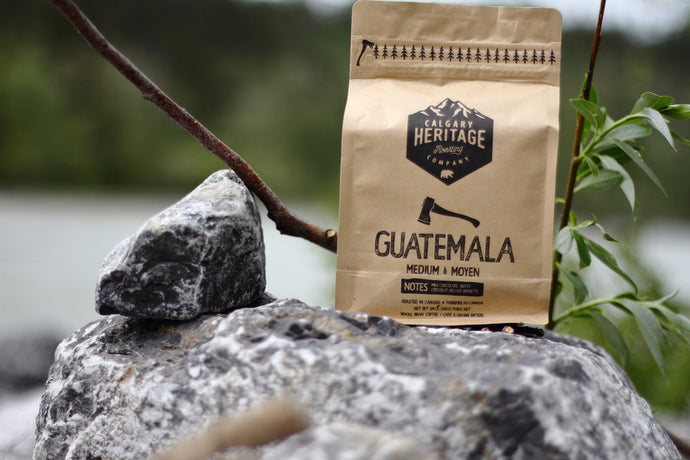 Calgary Heritage Roasting Company Guatemalan coffee roast with hints of caramel, chocolate and cherry available at Labrador Supply Co.