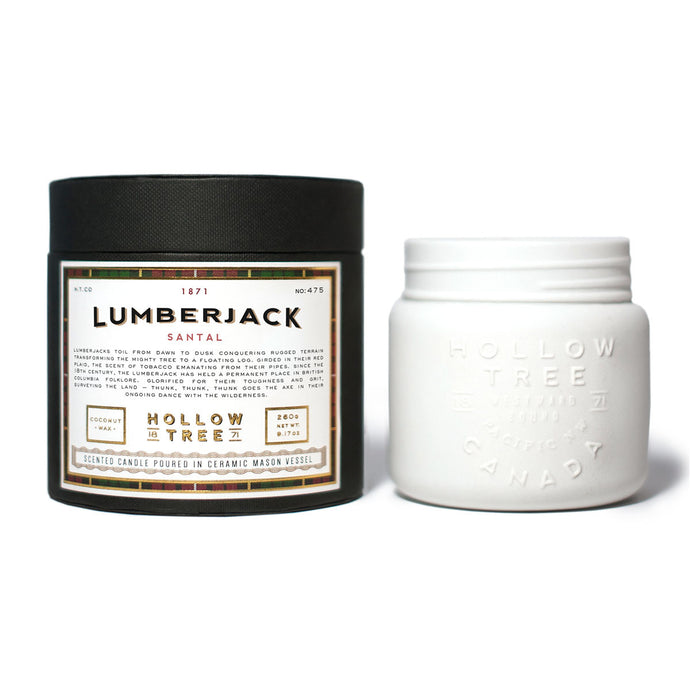 """Lumberjack"" coconut wax candle from HOLLOW TREE 1871, available at LABRADOR SUPPLY CO."