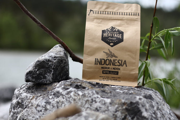 Calgary Heritage Roasting Company Indonesian Sumatran coffee roast with hints of chocolate and espresso available at Labrador Supply Co.