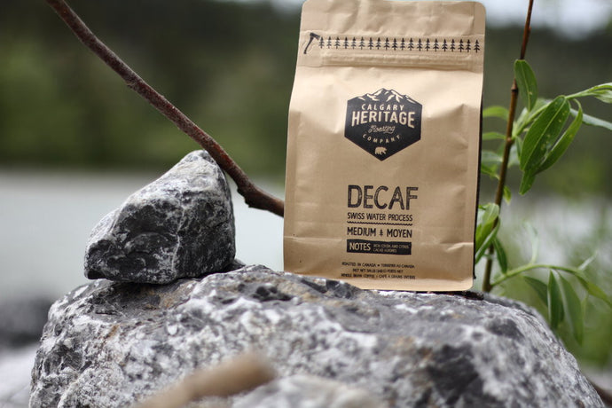 Calgary Heritage Roasting Company Peruvian Decaf coffee roast with hints of coca and citrus available at Labrador Supply Co.