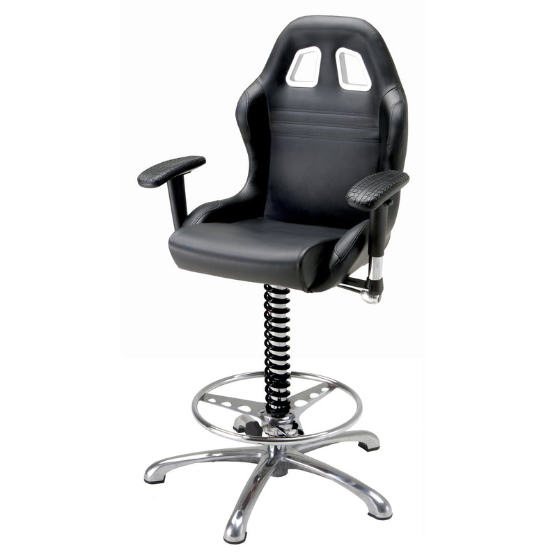 PitStop Crew Chief Bar Chair BLACK