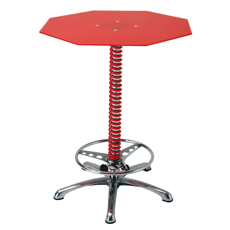PitStop Crew Chief Bar Table RED