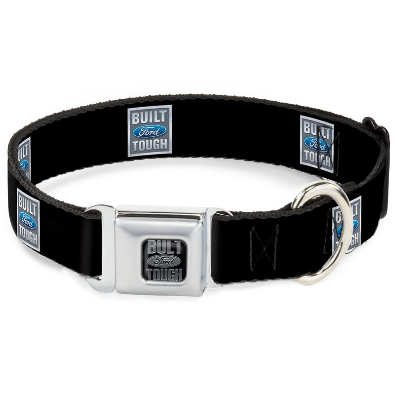 Built Ford Tough Logo Repeat Seatbelt Buckle Dog Collar