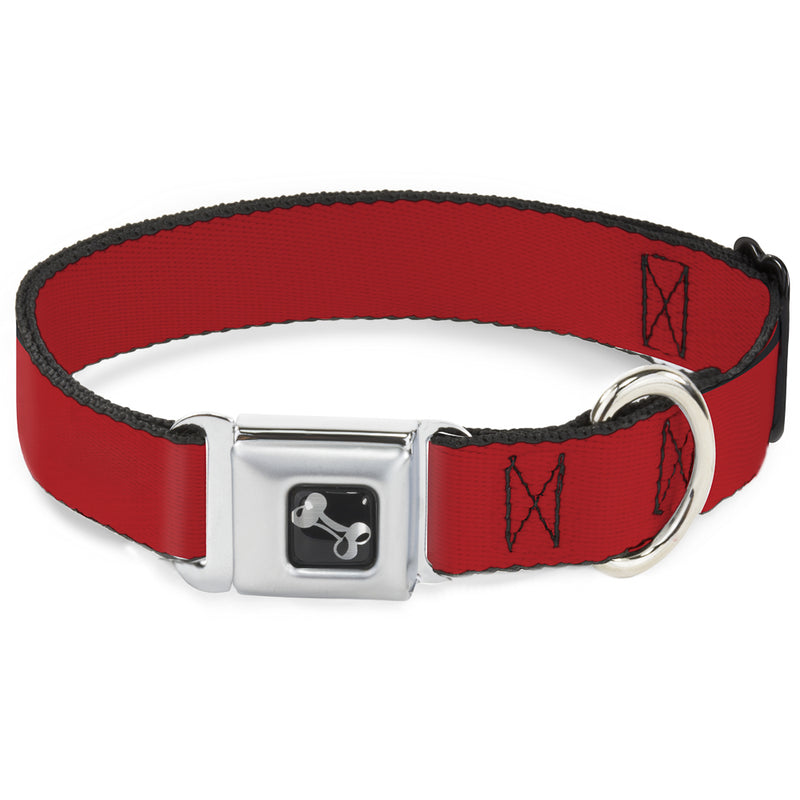 Christmas Red Print Seatbelt Buckle Dog Collar