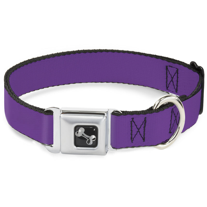 Neon Purple Print Seatbelt Buckle Dog Collar