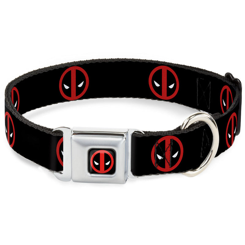 Marvel Deadpool Logo Seatbelt Buckle Dog Collar