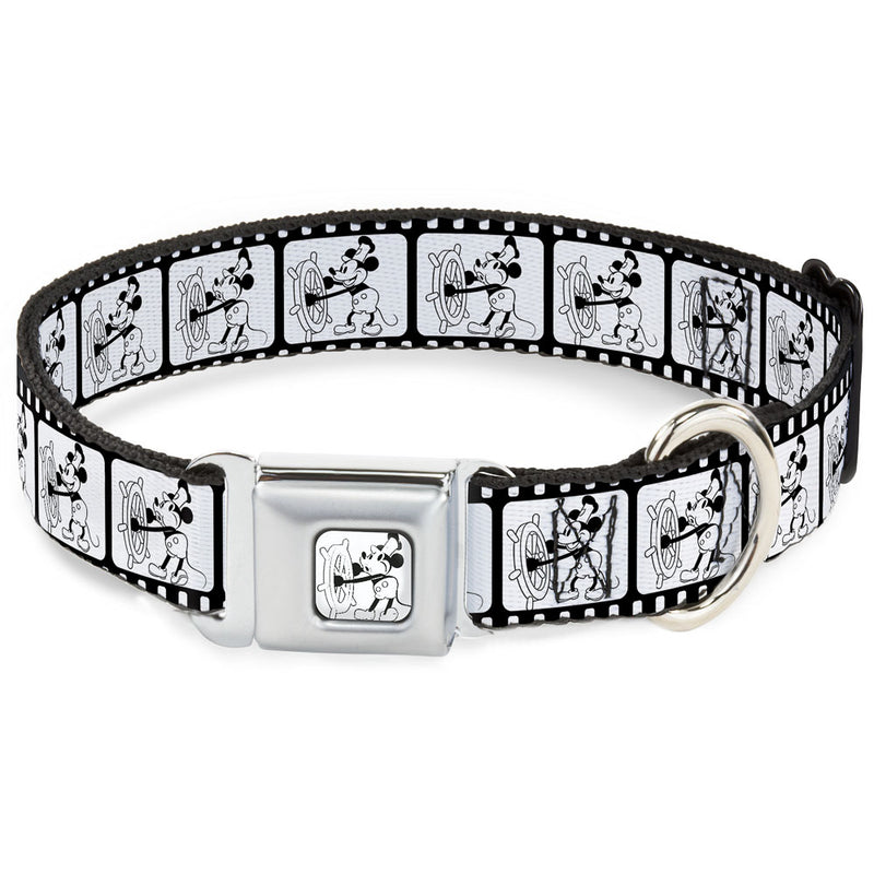 Steamboat Willie Mickey Mouse Whistling Seatbelt Buckle Dog Collar