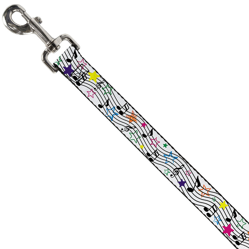 "Music Notes Stars White/Black/Multi Color, 1"" - 4 Foot"