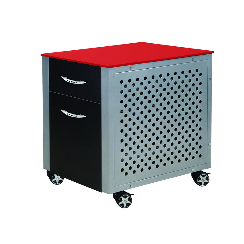 PitStop File Cabinet RED