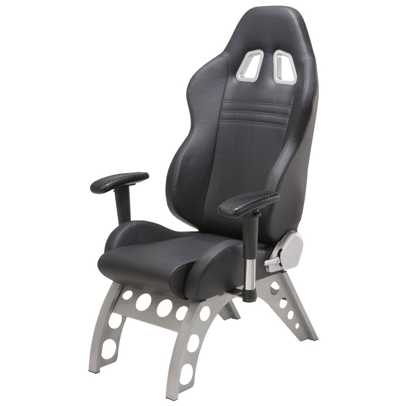 PitStop GT Receiver Chair BLACK on BLACK