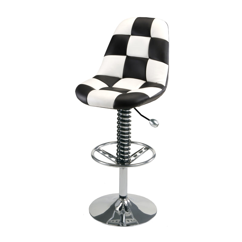 PitStop Pit Crew Bar Chair WHITE/BLACK