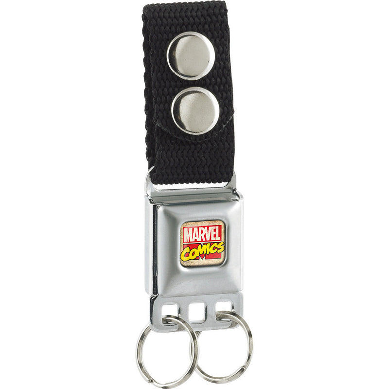 Seatbelt Buckle Keychain - Marvel Comics Logo Full Color