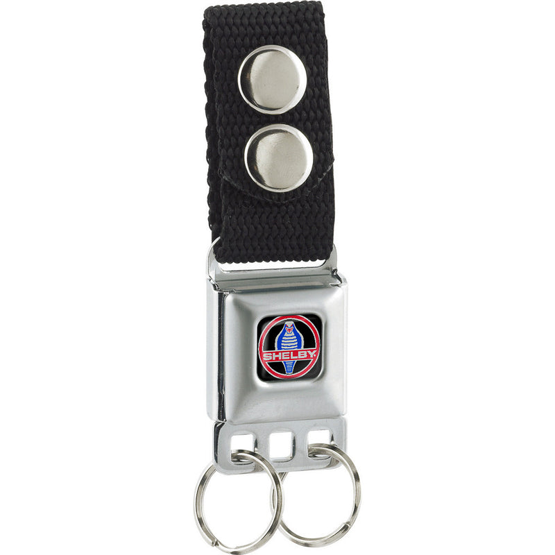 SHELBY Cobra Full Color Black/Gray/Red/Blue Seatbelt Buckle Keychain