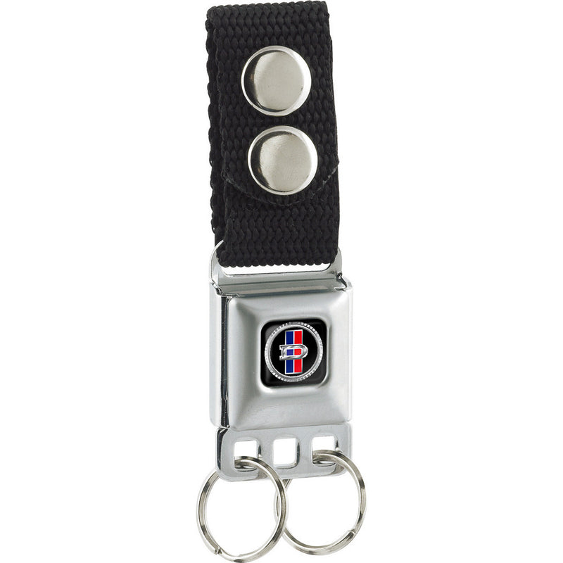 Seatbelt Buckle Keychain - Datsun Grill Emblem Logo Full Color Black/Silver/Blue/Red