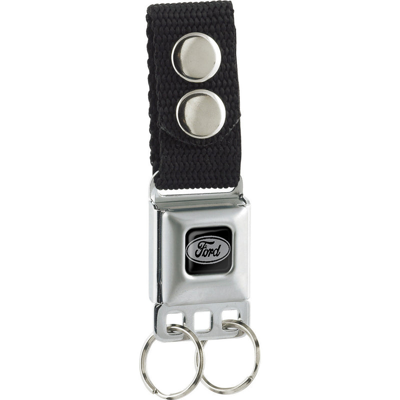 Ford Emblem - Black Seatbelt Buckle Keychain