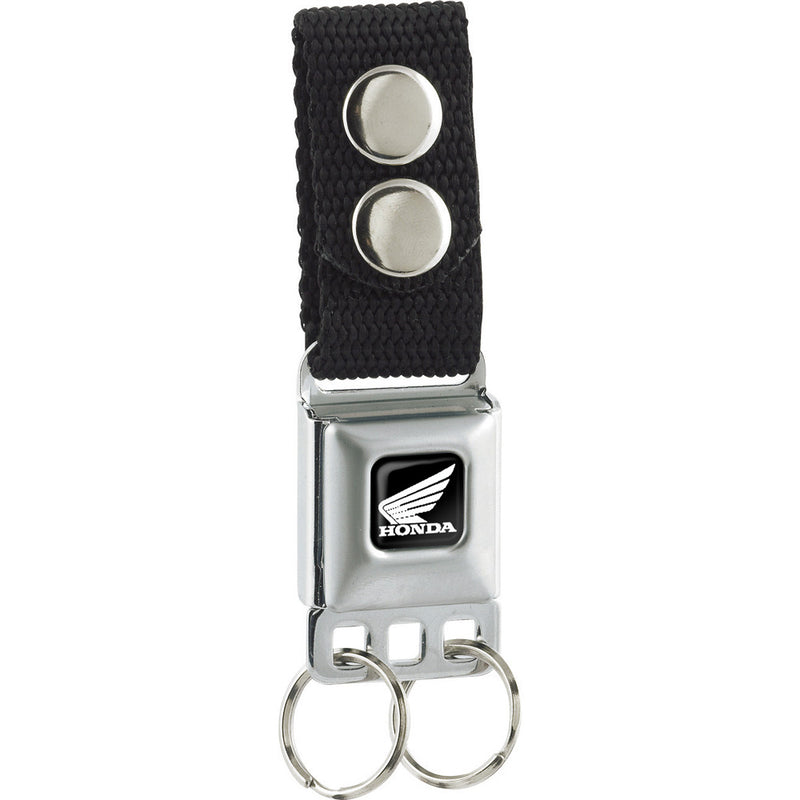 Honda Motorcycle Full Color Black/White - Seatbelt Buckle Keychain