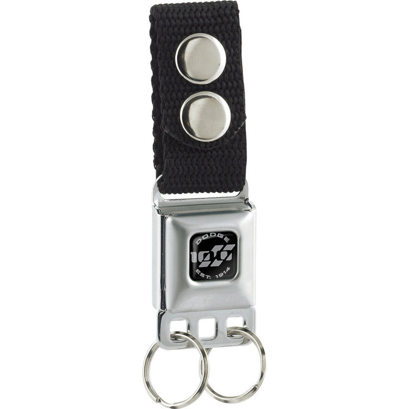 Dodge 100th Anniversary Logo - Black Seatbelt Buckle Keychain