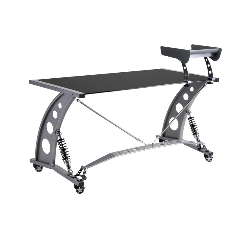 PitStop GT Spoiler Desk BLACK w/Spoiler Shelf